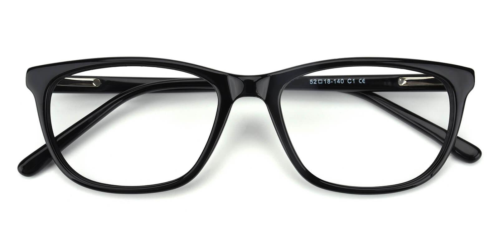 Emblem-Black-Square / Cat-Acetate-Eyeglasses-detail