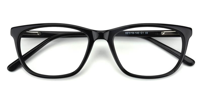 Emblem-Black-Eyeglasses / SpringHinges / UniversalBridgeFit