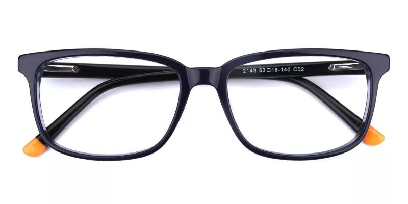 Connotation-Blue-Eyeglasses / SpringHinges / UniversalBridgeFit