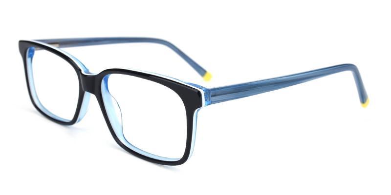 Bolayer-Blue-Eyeglasses / SpringHinges / UniversalBridgeFit
