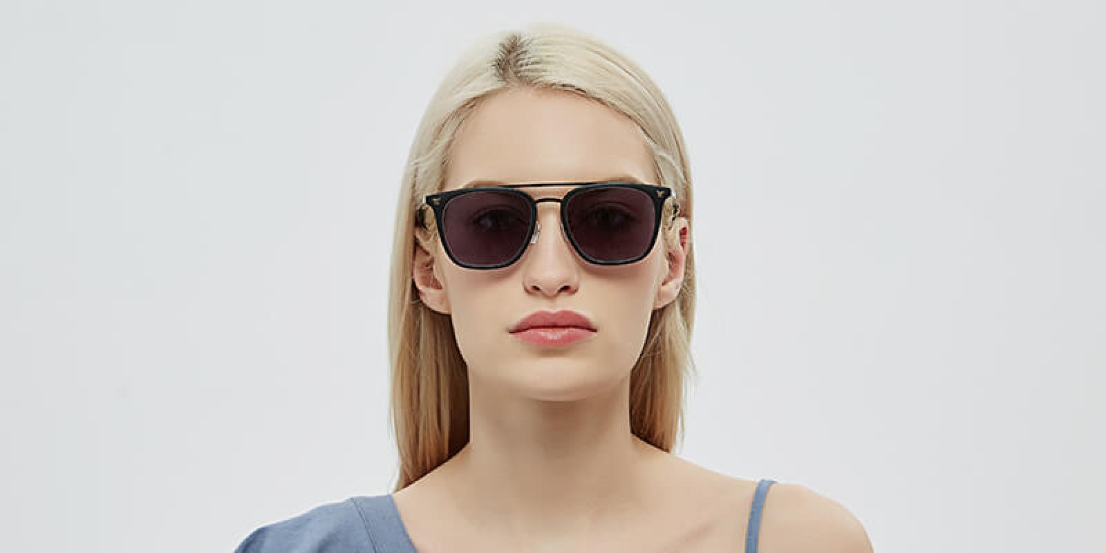 Seagual-Black-Combination / Metal / TR-Sunglasses-detail1