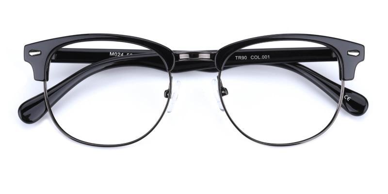 Ferrous-Black-Eyeglasses / NosePads