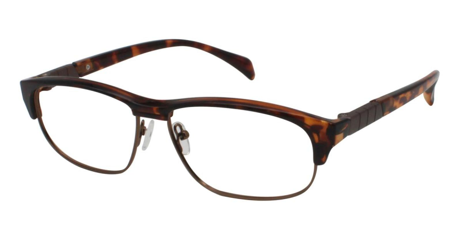 Colin-Leopard-Rectangle-Combination / Metal / TR-Eyeglasses-additional1