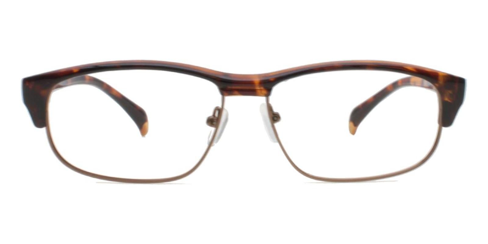 Colin-Leopard-Rectangle-Combination / Metal / TR-Eyeglasses-additional2
