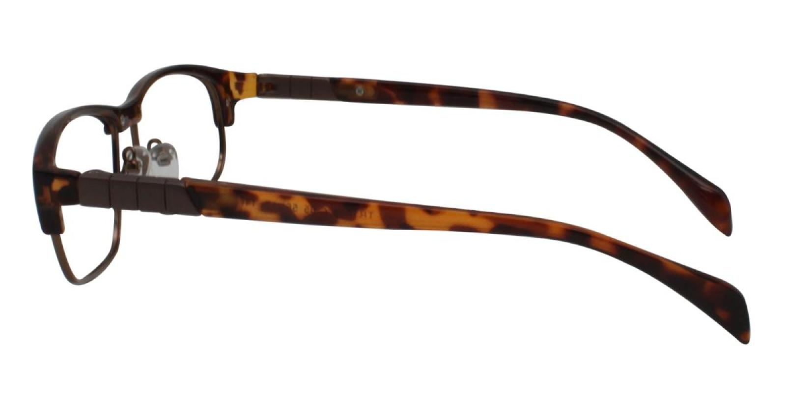 Colin-Leopard-Rectangle-Combination / Metal / TR-Eyeglasses-additional3