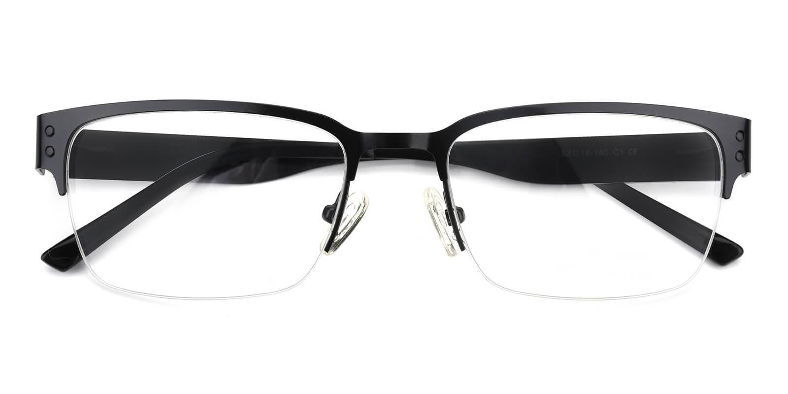 Wiflat-Black-Rectangle-Metal-Eyeglasses-detail