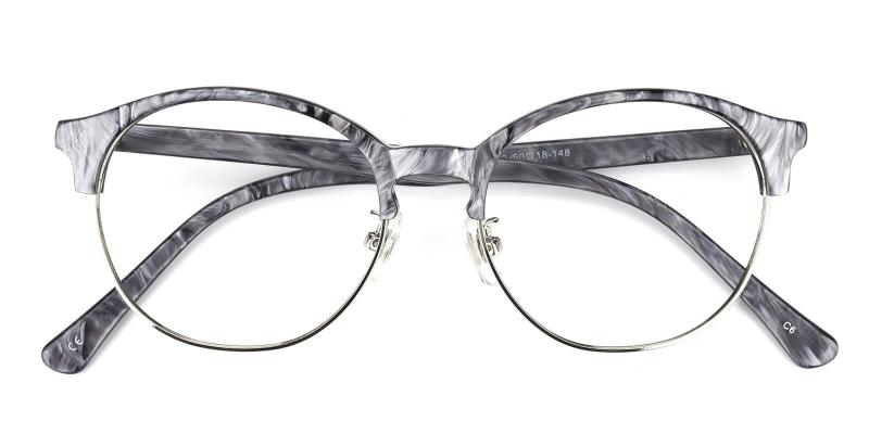 Mandisey-Gray-Eyeglasses / NosePads