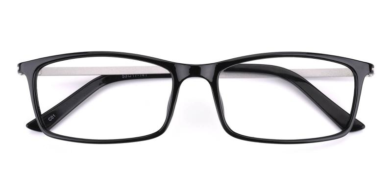 Relarus-Black-Eyeglasses / Lightweight / UniversalBridgeFit