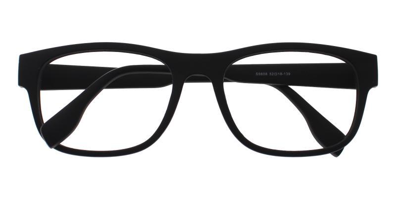 Richmond-Black-Eyeglasses / UniversalBridgeFit
