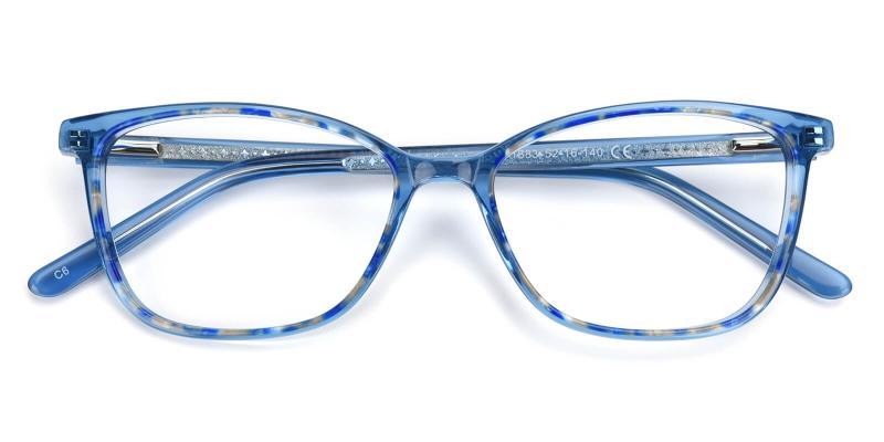 Darleney-Blue-Eyeglasses / Fashion / Lightweight / SpringHinges / UniversalBridgeFit