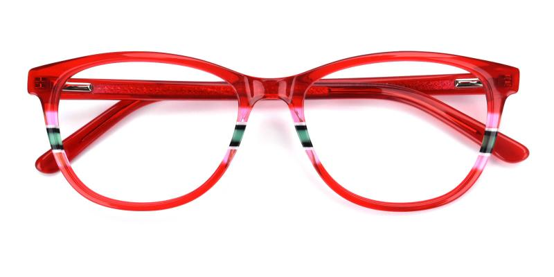 Faithely-Red-Eyeglasses / Fashion / SpringHinges / UniversalBridgeFit