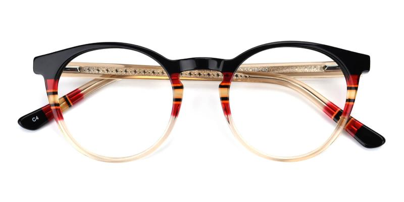Gabrielle-Black-Eyeglasses / Fashion / SpringHinges / UniversalBridgeFit