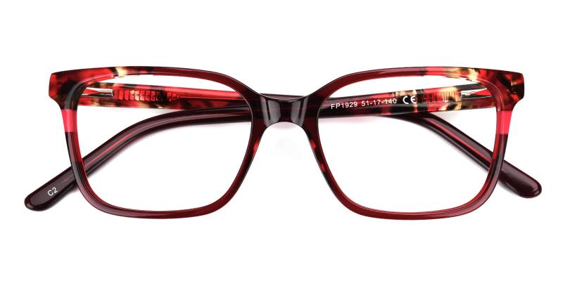 Geraldine-Red-Eyeglasses / Fashion / SpringHinges / UniversalBridgeFit