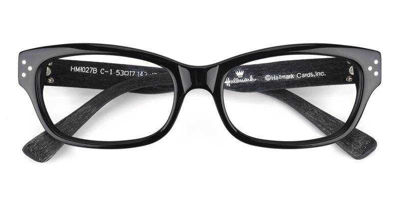 Flymingo-Black-Eyeglasses / Fashion / SpringHinges / UniversalBridgeFit