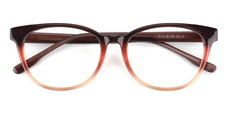 Zona-Brown-Eyeglasses / Fashion / SpringHinges / UniversalBridgeFit