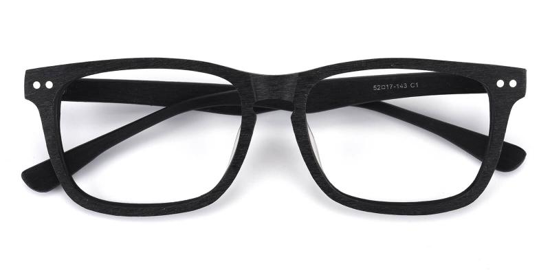 Bruke-Black-Eyeglasses / Fashion / SpringHinges / UniversalBridgeFit