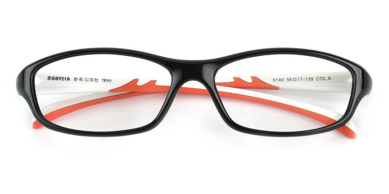 Hank-Black-Eyeglasses / Fashion / SpringHinges / UniversalBridgeFit