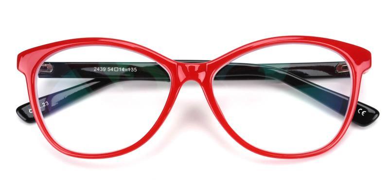 Netfertari-Red-Eyeglasses / Fashion / Lightweight / UniversalBridgeFit
